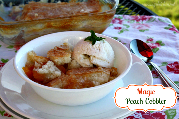 MAGIC PEACH COBBLER by Mommy's Kitchen (Weekend Potluck 435)