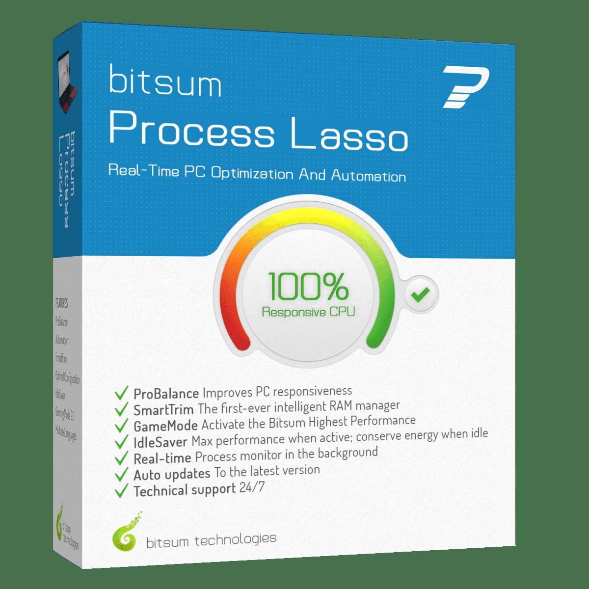 Bitsum Technologies Process Lasso Pro 9.0.0.368 poster box cover