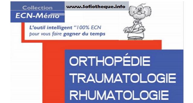 ECN Mémo Orthopédie Traumatologie Rhumatologie PDF gratuit