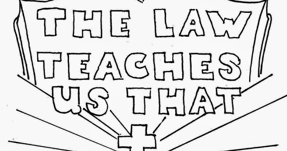 Coloring Pages for Kids by Mr. Adron: The Law Has Become