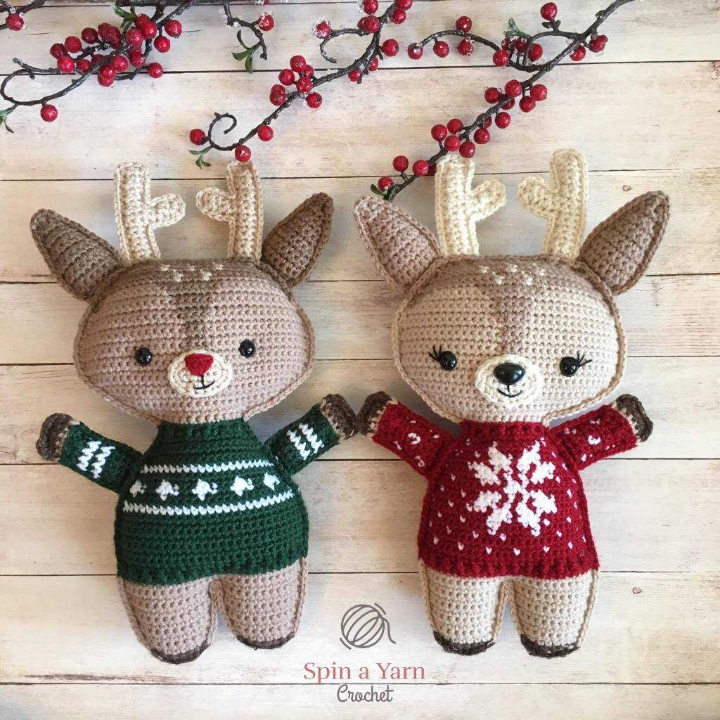 Toy patterns: Holiday deer crochet pattern