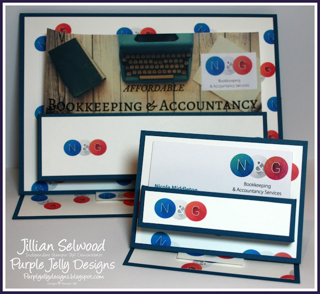 N&G Bookkeeping and Accountancy Dapper Denim Persoanlised Business card holder and leaflet holder