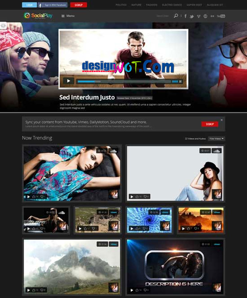 SOCIALPLAY Media Sharing WordPress Theme