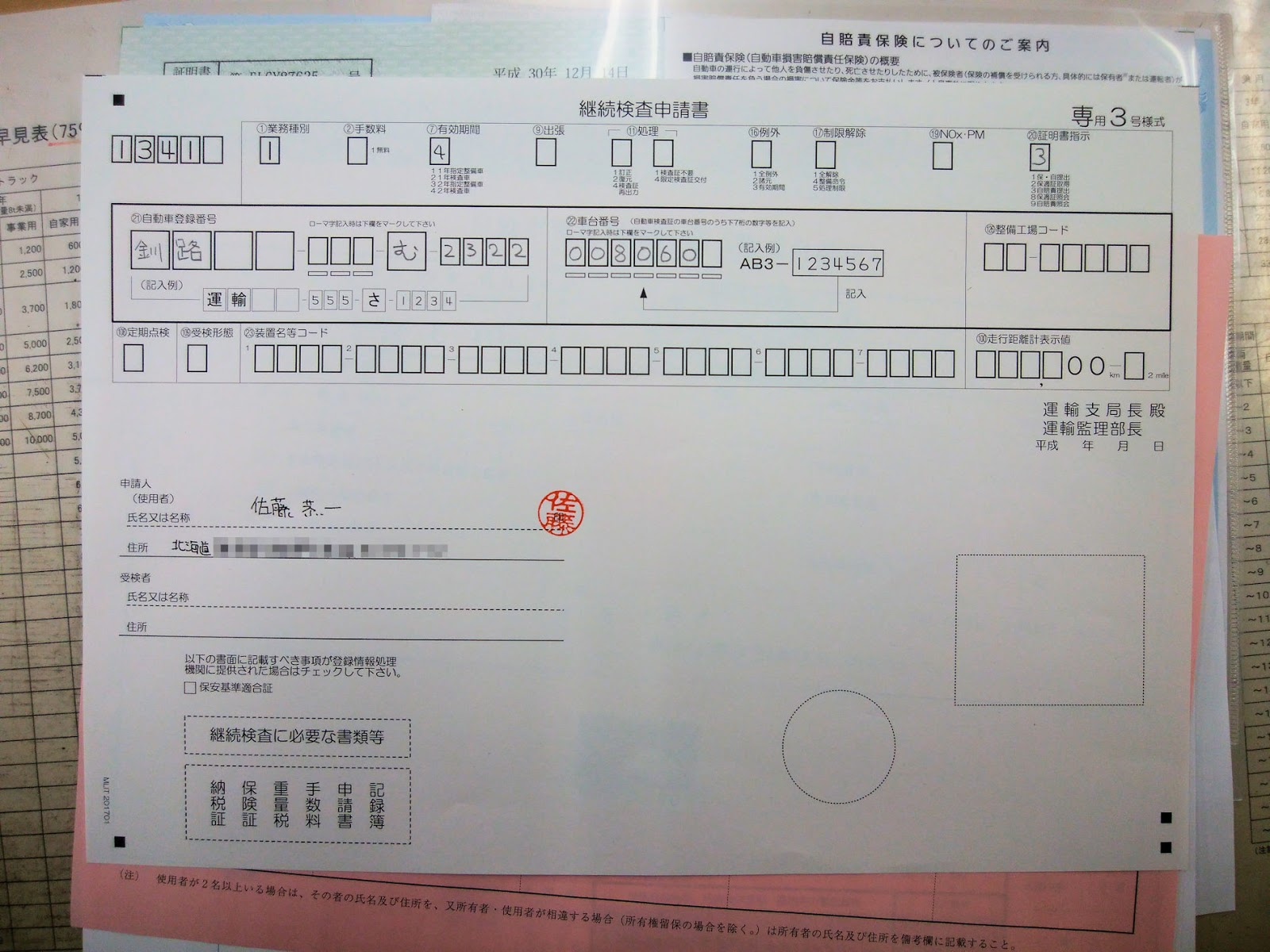 バイクのユーザー車検 ZZR1100C 西三河自動車検査登録事務所