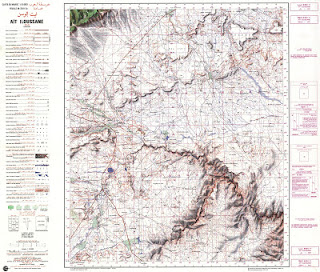 Ait-ILLOUSSANE Morocco 50000 (50k) Topographic map free download