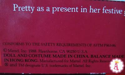 Где сделана коллекционная кукла барби 1988 года