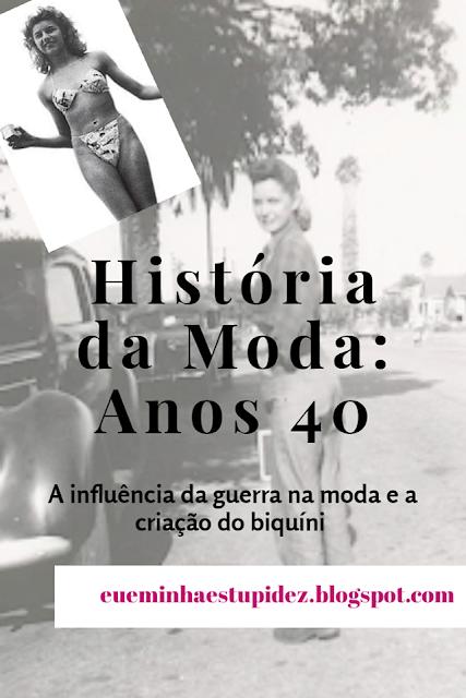 historia da moda anos 40