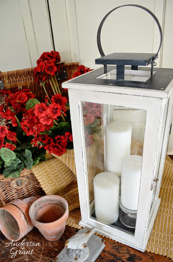 Wood Lantern Painted with Chalk Paint | www.andersonandgrant.com