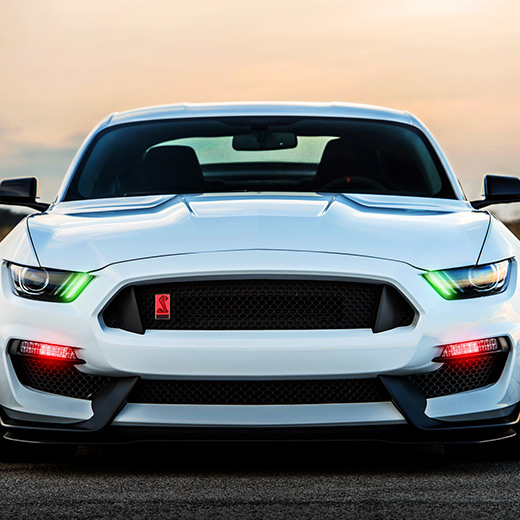 Mustang Lights Wallpaper Engine