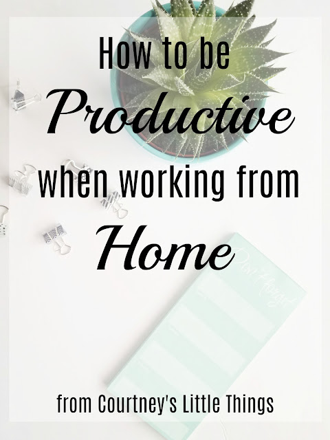 Tips for being productive from home