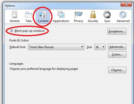 Cara Block Pop Up Browser Di Windows 8