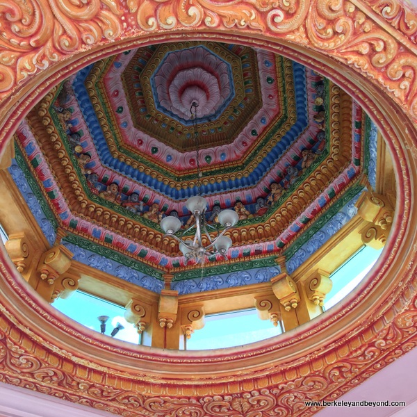 colorful dome at Dattatreya Temple in Carapichaima, Trinidad