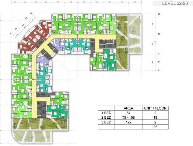 Mặt bằng căn hộ chung cư T&T Reverside 404 Vĩnh Hưng