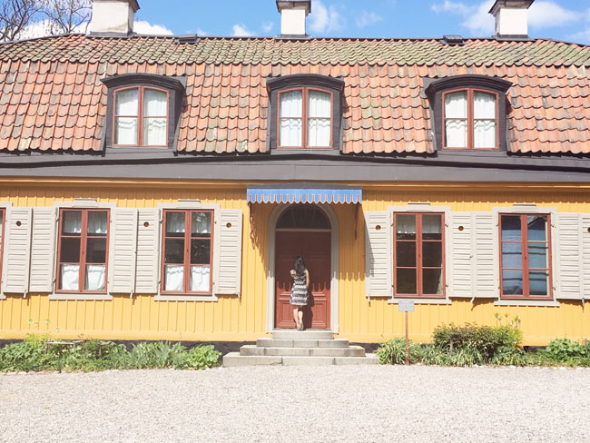 Best Stockholm Instagram Spots - Skansen yellow house