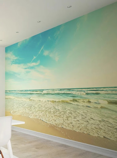 Beach Mural Accent Wall