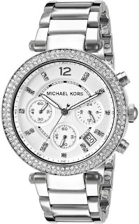 MICHAEL KORS Parker Silver Dial Stainless Steel Chronograph Ladies MK5353