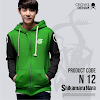 fashion cowok fashioncowok black green hoodie - Shikamaru nara