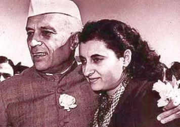 Nehru and Indira Gandhi