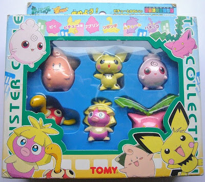 Suckle Pokemon figure Tomy Monster Collection Pichu and pretty friends set