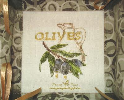 вышивка оливки
