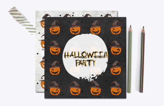 "PATTERNS: pack ""Halloween 2015"" party invitation"
