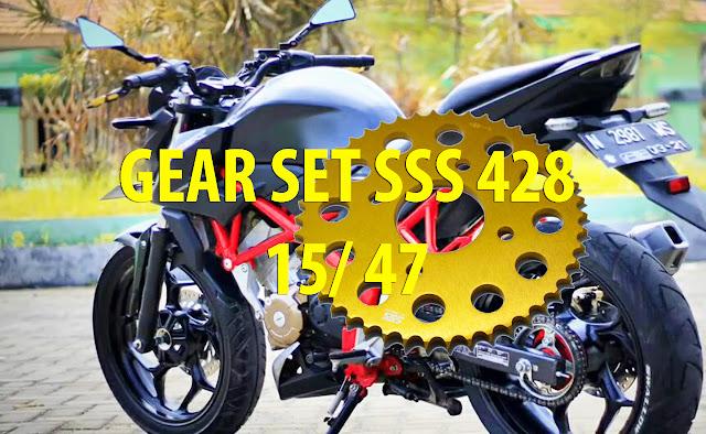 Pengalaman Menggunakan Gear Set CB150R Ukuran 428 15-46