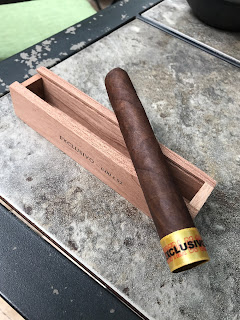 Pre-light of the cigar