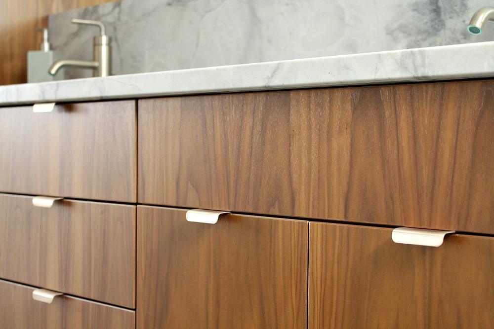 Modern wood cabinet handles