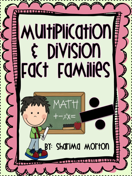 Lovebuglearning Multiplication Division Fact Family Fun