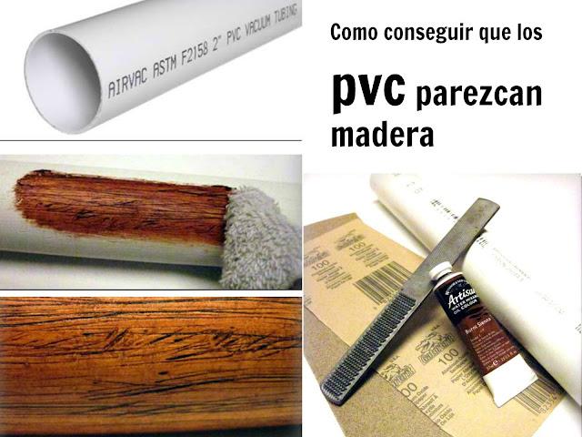 pvc, madera, bricolaje, pvc transformado en madera