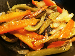 Sauted peppers and onions