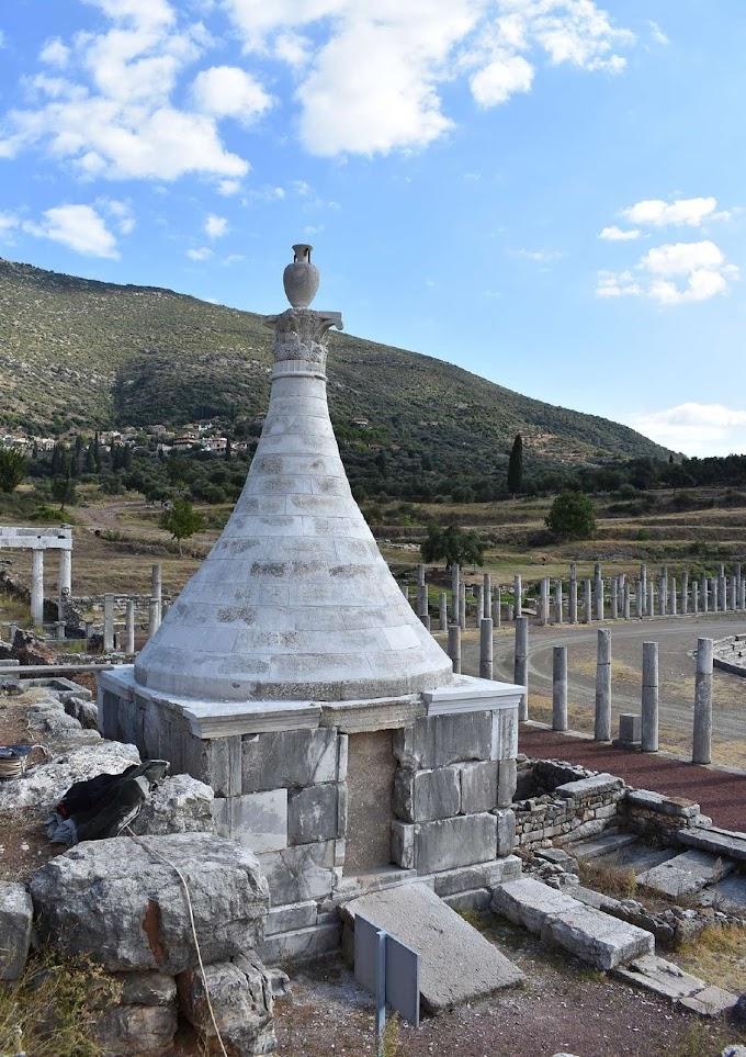 Ένα λαμπρό ταφικό μνημείο στο Γυμνάσιο της αρχαίας Μεσσήνης