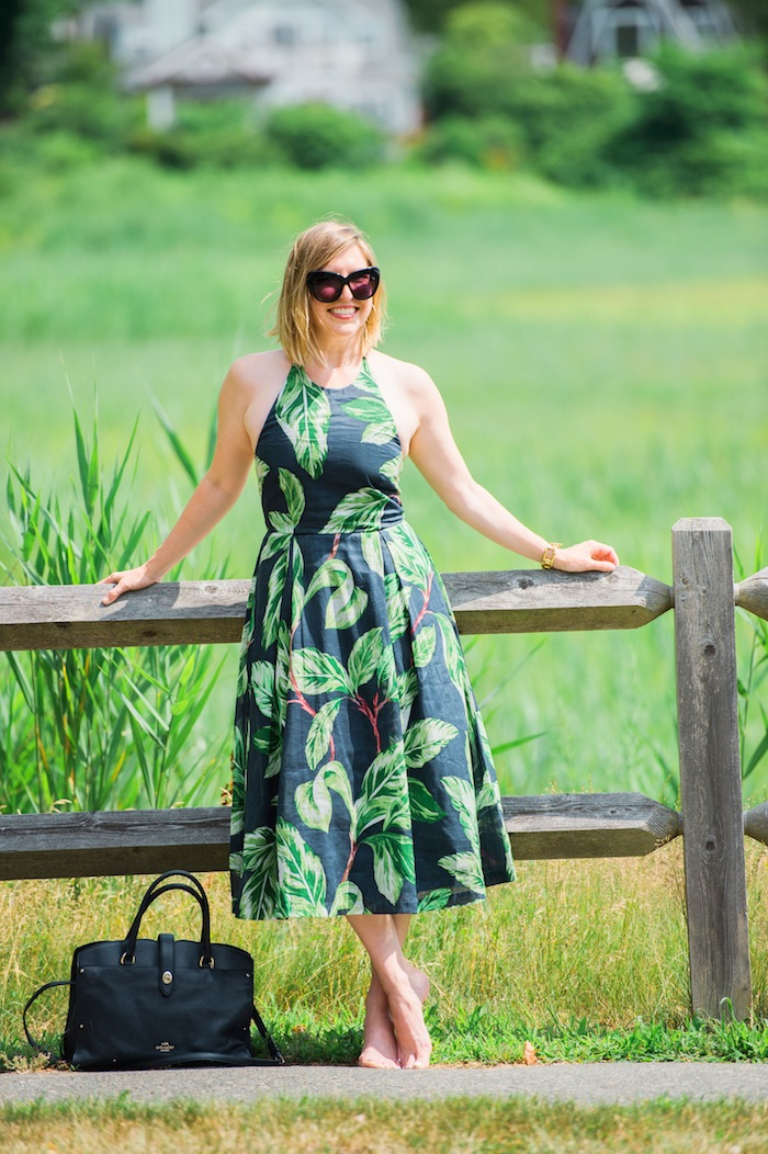 Ann Taylor palm print dress
