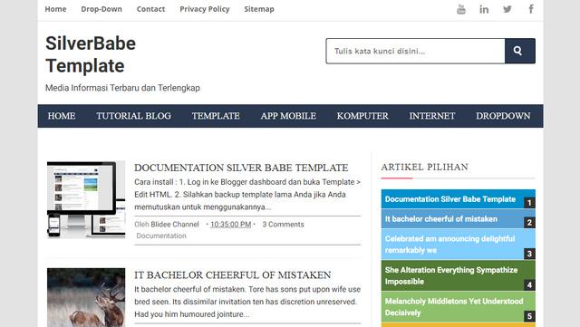 Silver Babe Responsive Blogger Templates