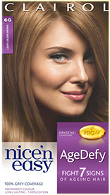 Nice'n Easy Age Defy Permanent Hair Dye Light Golden Brown 6G