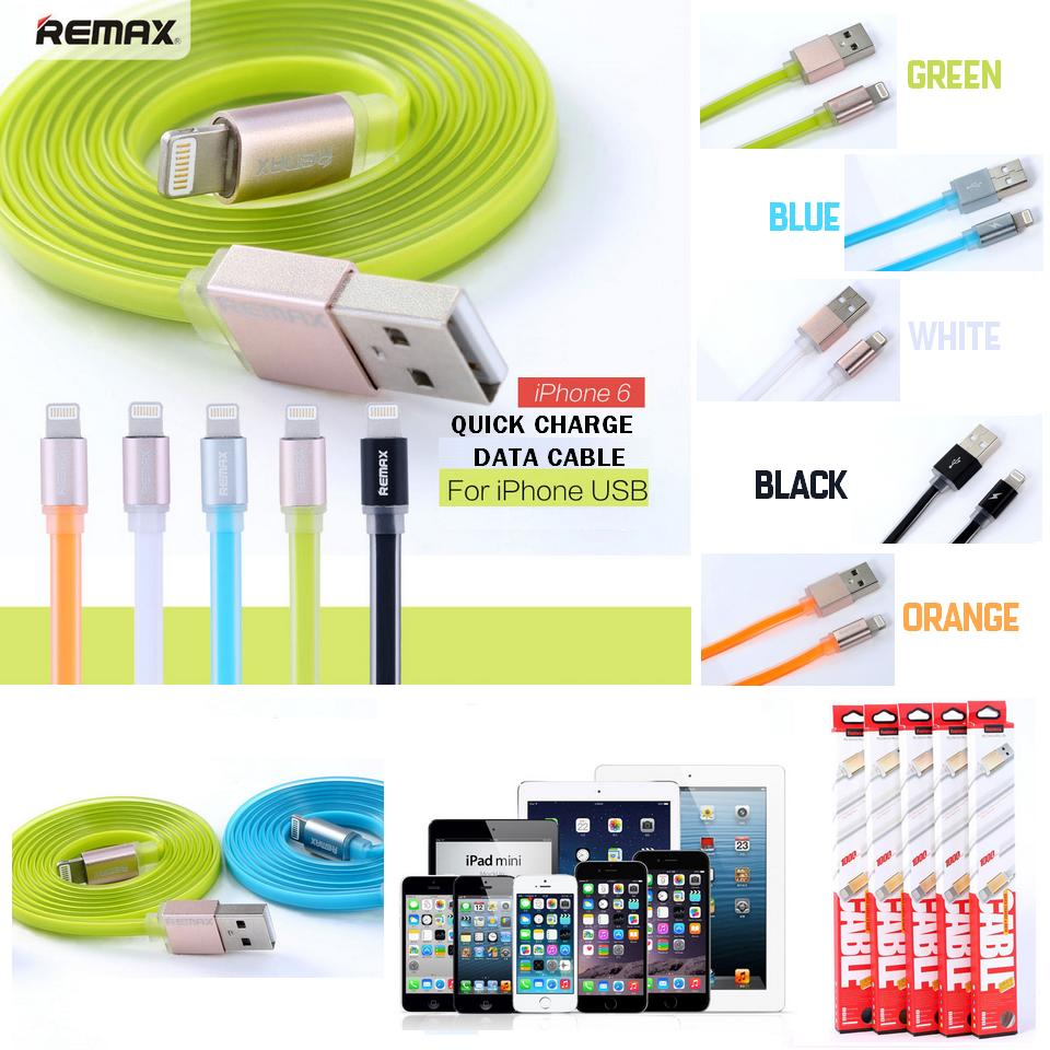 KABEL Data REMAX PUDDING Fast Charger Lightning iPhone 5 dan 6