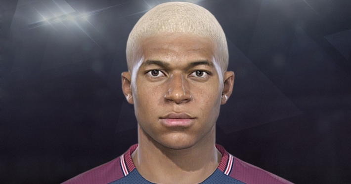 PES 2018 Faces Kylian Mbappe by Jarray & The White Demon