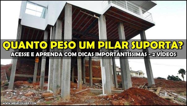 pilares de construção