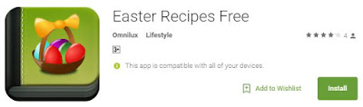Easter recipes mobile app