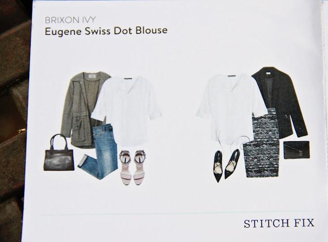 Brixon Ivy Eugene Swiss Dot Blouse