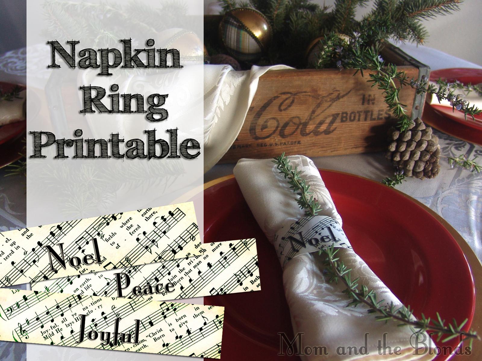 Christmas Carol Printable: From The Carriage House: Christmas Carol Napkin Rings