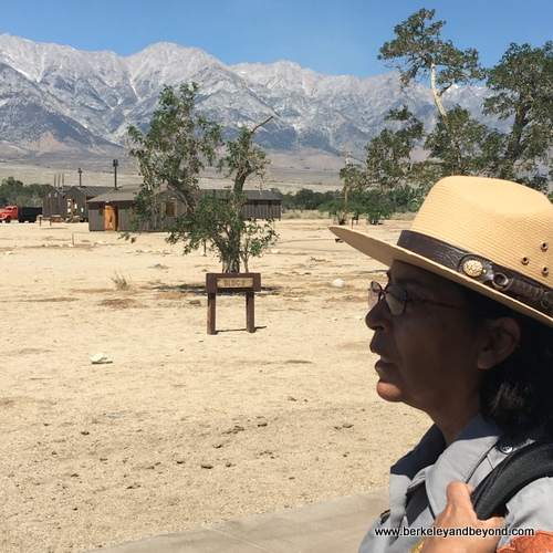 ranger at Manzanar National Historic Site in Independence, California
