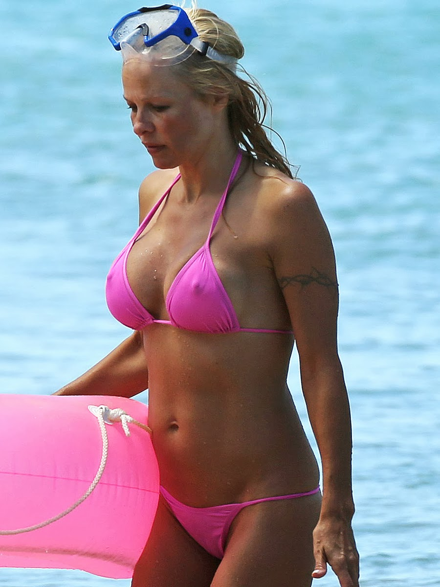 Pam anderson thong