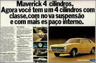 Propaganda  Ford Maverick - 4 cilindros 1975, Ford Willys anos 70, carro antigo Ford, década de 70, anos 70, Oswaldo Hernandez, Maverick 75,