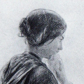 "Detail from a study for Solomon's ""Second Class"", c. 1854"