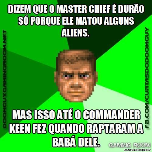Master Chief é menos durão que o Commander Keen
