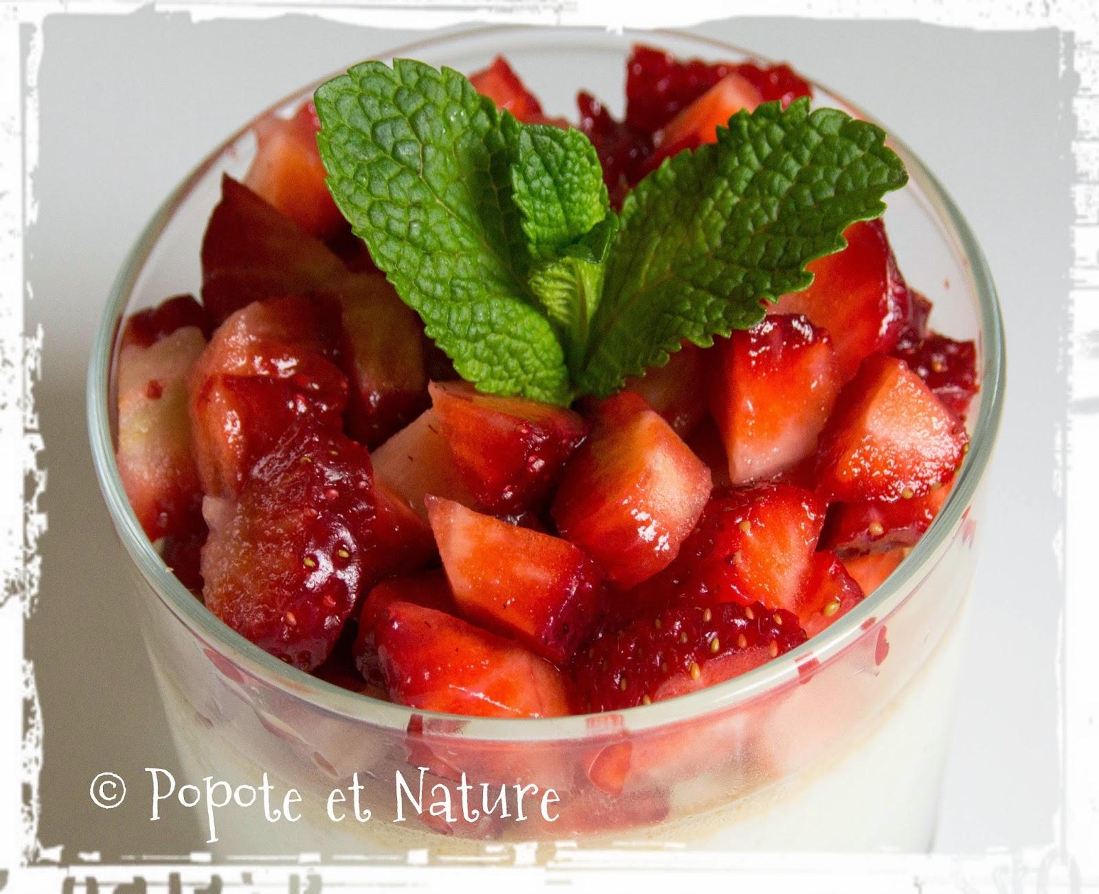 Popote et nature une panna cotta aux fraises fra ches sans agar agar et sans g latine - Panna cotta sans gelatine ...