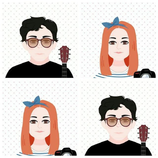 blog de casal, look de casal, doodle face, como usar doodle face, app de ilustração, jell e marcelo