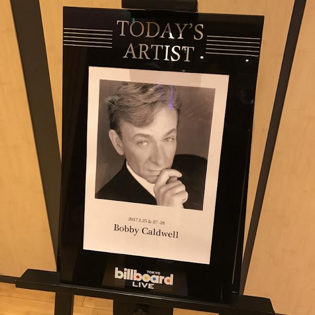Billboard Live 東京で行われた、ボビー・コールドウェルのライブの写真です。