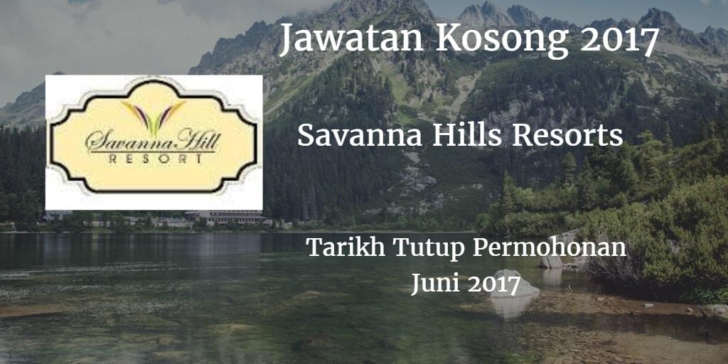 Jawatan Kosong SAVANNA MANAGEMENT SDN BHD Juni 2017